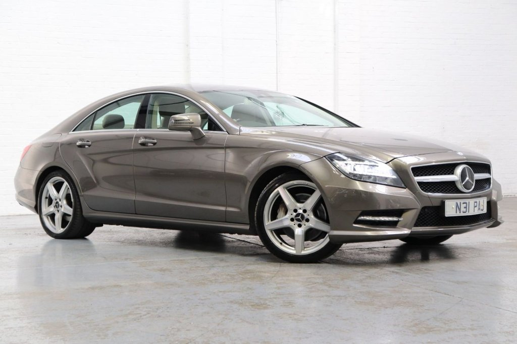USED 2013 N MERCEDES-BENZ CLS CLASS 3.0 CLS350 CDI BLUEEFFICIENCY AMG SPORT 4d 265 BHP Leather Heated Seats + Satnav + Parking Aid Front/ Rear + Cruise + Dab