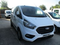 USED 2019 68 FORD TRANSIT CUSTOM 2.0 300 TREND  L1 H1 5d 105 BHP with A/C 2018 68 Ford Custom Trend 300
