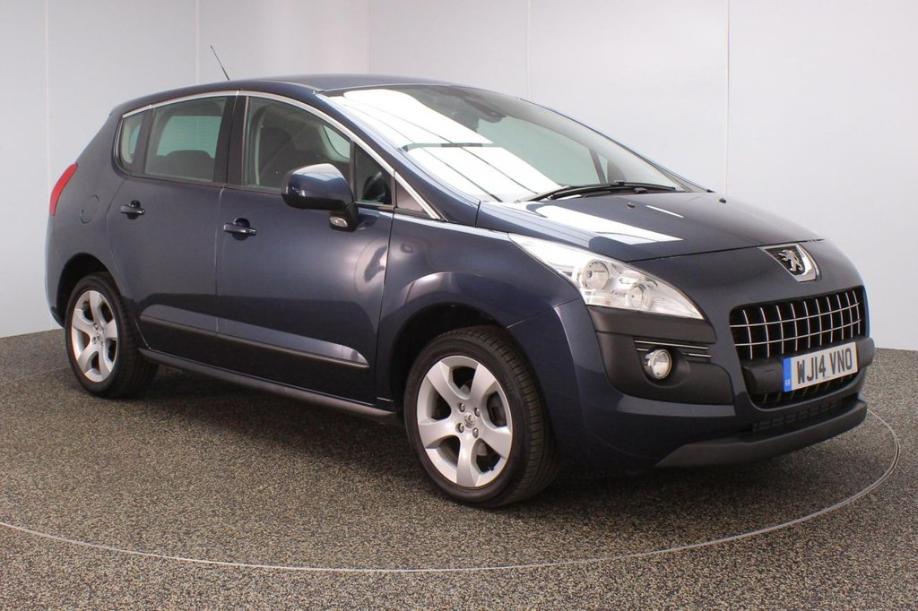 USED 2014 14 PEUGEOT 3008 1.6 E-HDI ACTIVE 5DR 115 BHP FULL SERVICE HISTORY + £20 12 MONTHS ROAD TAX + PARKING SENSOR + BLUETOOTH + CRUISE CONTROL + AIR CONDITIONING + RADIO/CD + ELECTRIC WINDOWS + ELECTRIC MIRRORS + 17 INCH ALLOY WHEELS