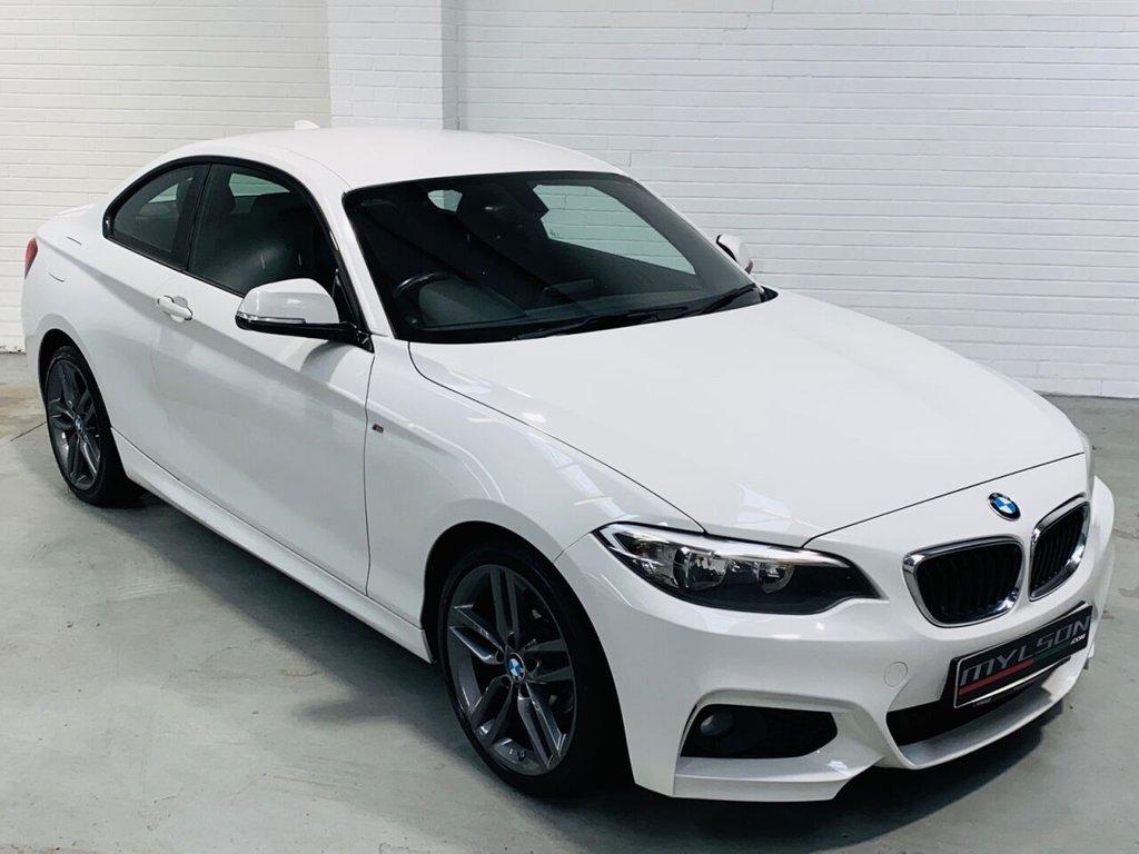 USED 2015 15 BMW 2 SERIES 2.0 218D M SPORT 2d 141 BHP Alpine White with Black Alcantara Interior, Platinum Grey Wheels