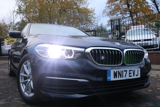 USED 2017 17 BMW 5 SERIES 2.0 520D SE 4d 188 BHP WILL COME WITH 12 MONTHS MOT-NEW SHAPE+20TAX+1 OWNER+17ALLOYS+SENSORS+CLIMATE+SATNAV+ELECTRIC SUNROOF+SPLIT FOLDING REAR SEATS+FRONT SPORT SEATS+MAINTENANCE PACK+LEATHER TRIM
