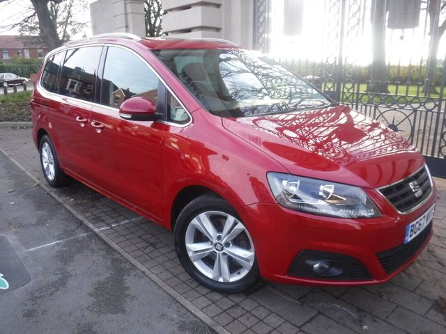 USED 2017 67 SEAT ALHAMBRA 2.0 TDI XCELLENCE 5d 148 BHP 7 SEATS*LEATHER*NAV*BTOOTH*FRONT & REAR PARKING SENSORS