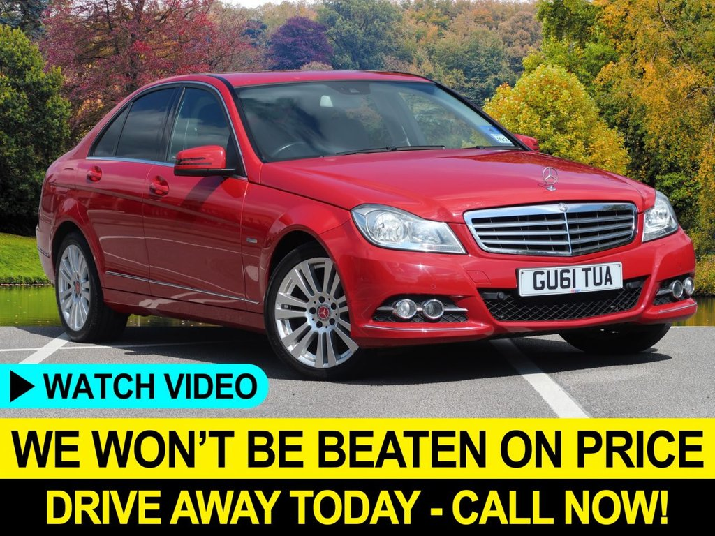 USED 2012 61 MERCEDES-BENZ C-CLASS C200 CDI ELEGANCE BlueEFFICIENCY 4DR  SAT NAV ALLOYS CRUISE LEATHER