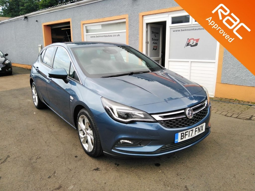 "USED 2017 17 VAUXHALL ASTRA 1.6 SRI CDTI S/S 5d 134 BHP 17"" Alloys, Air Con, Parking Sensors, Bluetooth, Cruise Control with collision alert"