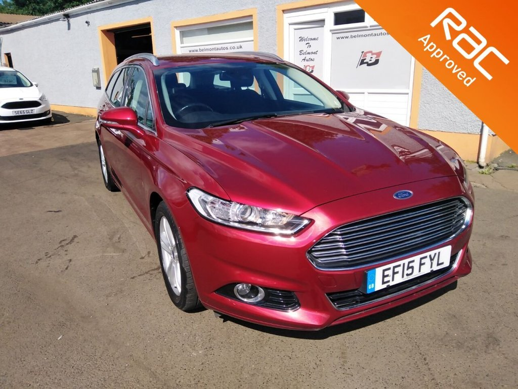 """USED 2015 15 FORD MONDEO 1.5 TITANIUM 5d 159 BHP 17"""" Alloys, Ford Sync, Touchscreen Sat Nav, Air conditioning, Cruise Control, 3 Service Stamps"""