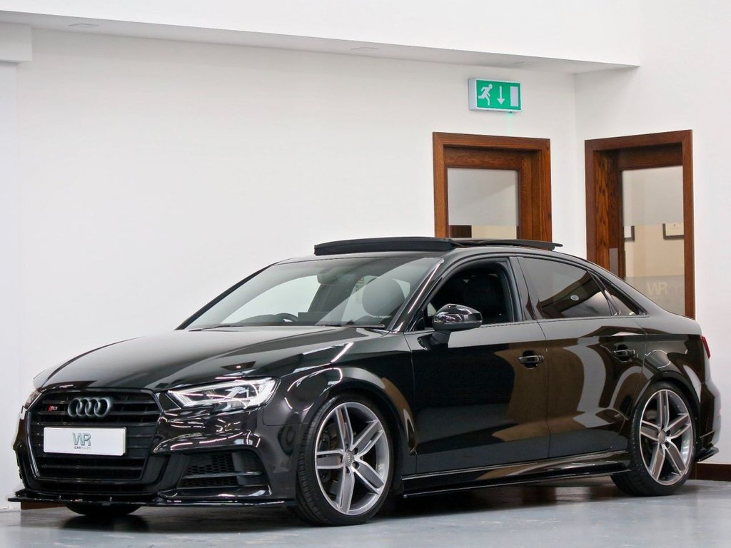 USED 2018 18 AUDI S3 2.0 TFSI Black Edition S Tronic quattro (s/s) 4dr PAN ROOF + MAXTON + VIRTUAL CP