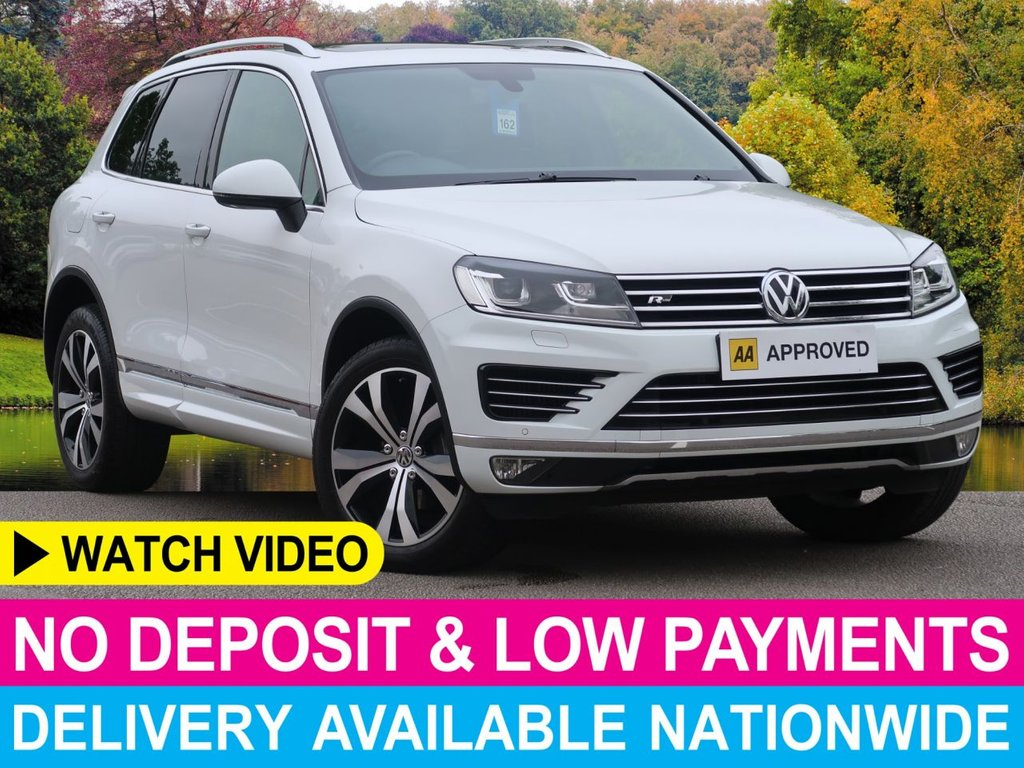 USED 2016 16 VOLKSWAGEN TOUAREG 3.0 V6 R LINE TRIPTRONIC AUTO 4WD 5DR PANORAMIC GLASS ROOF SAT NAV