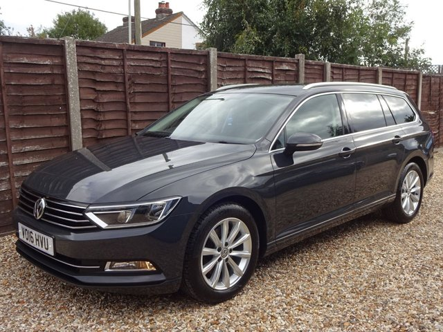 USED 2016 16 VOLKSWAGEN PASSAT 2.0 TDi SE BUSINESS BLUEMOTION TECH ESTATE FULL VW DEALER SERVICE HISTORY, VERY HIGH SPEC