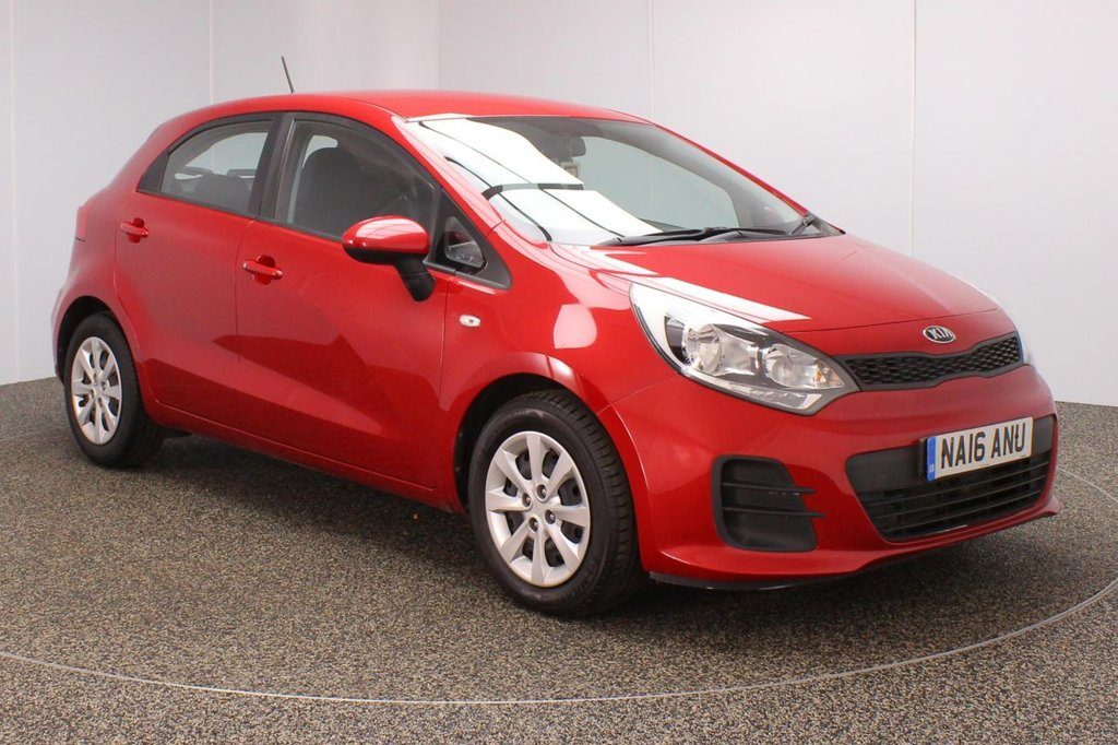 USED 2016 16 KIA RIO 1.1 CRDI 1 ISG 5DR 1 OWNER 74 BHP SERVICE HISTORY + FREE 12 MONTHS ROAD TAX + BLUETOOTH + MULTI FUNCTION WHEEL + AIR CONDITIONING + DAB RADIO + AUX/USB PORTS + ELECTRIC WINDOWS + ELECTRIC/HEATED DOOR MIRRORS