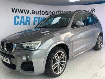 2016 BMW X3 2.0 XDRIVE20D M SPORT 5d 188 BHP £20500.00