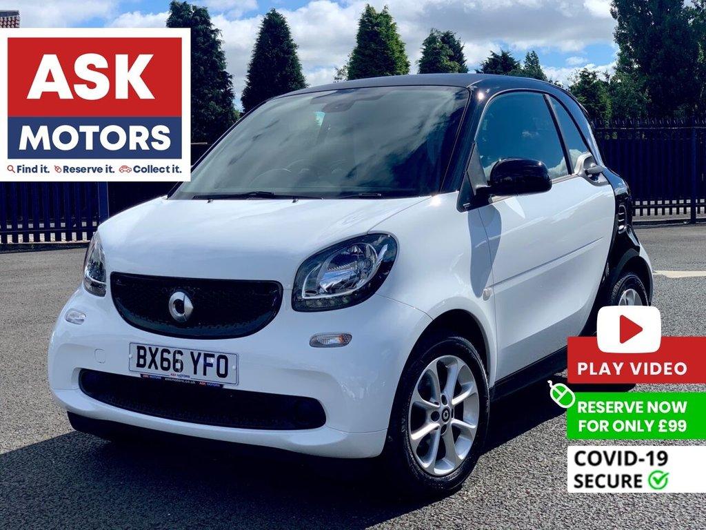 USED 2016 66 SMART FORTWO 1.0 PASSION 2d 71 BHP SERVICE HISTORY SPARE KEY
