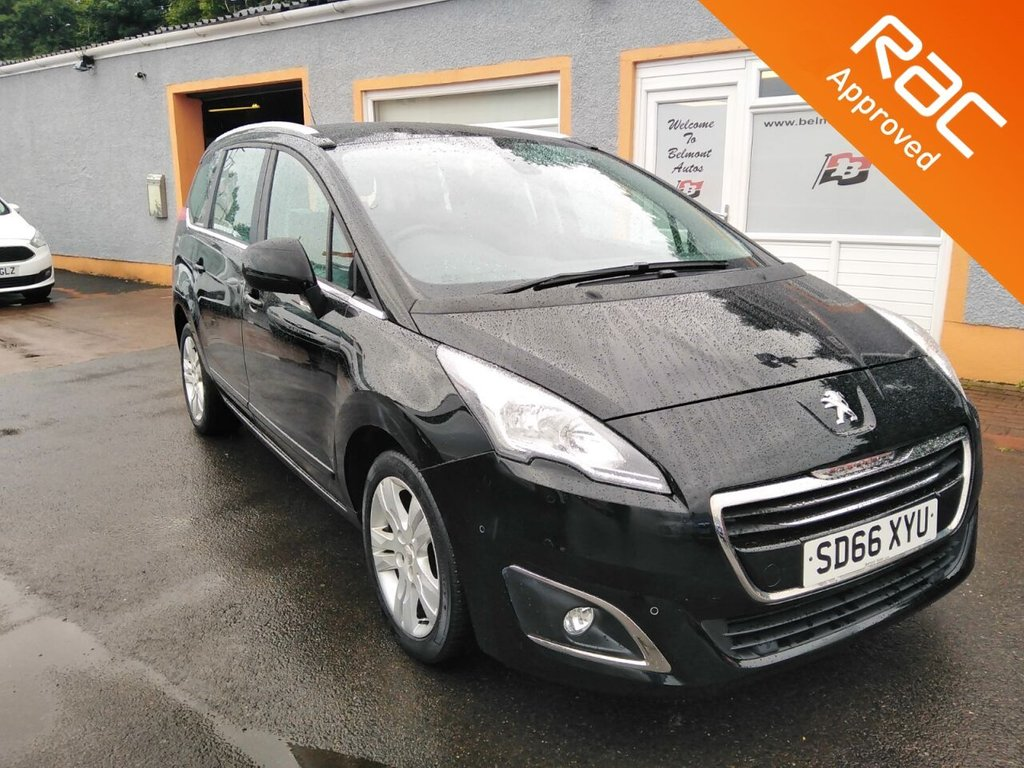 """USED 2016 66 PEUGEOT 5008 1.6 BLUE HDI S/S ACTIVE 5d 120 BHP Bluetooth, 17"""" Alloys, Parking Sensors"""