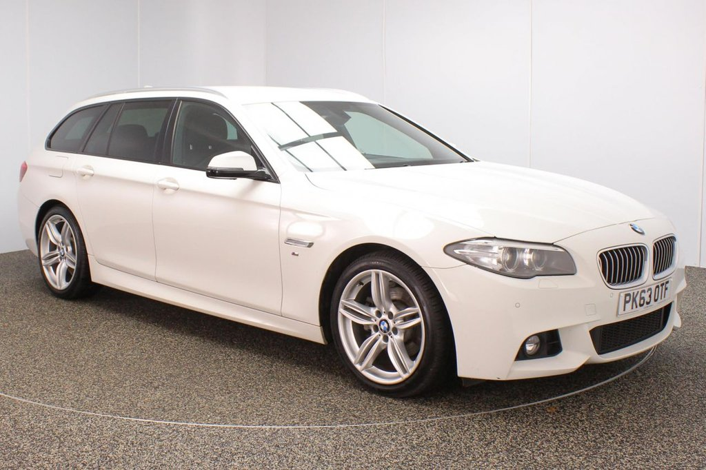 USED 2013 63 BMW 5 SERIES 2.0 520D M SPORT TOURING 5DR AUTO 181 BHP BMW SERVICE HISTORY + HEATED LEATHER SEATS + SATELLITE NAVIGATION + PARKING SENSOR + BLUETOOTH + CRUISE CONTROL + CLIMATE CONTROL + MULTI FUNCTION WHEEL + PRIVACY GLASS + XENON HEADLIGHTS + DAB RADIO + AUX/USB PORTS + ELECTRIC FRONT SEATS + ELECTRIC WINDOWS + ELECTRIC MIRRORS + 19 INCH ALLOY WHEELS