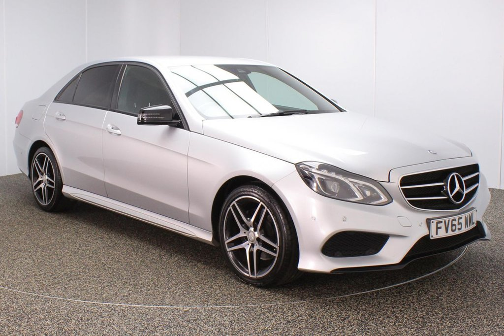 USED 2015 65 MERCEDES-BENZ E-CLASS 2.1 E250 CDI AMG NIGHT EDITION 4DR 1 OWNER AUTO 201 BHP FULL SERVICE HISTORY + HEATED LEATHER SEATS + SATELLITE NAVIGATION + PARKING SENSOR + BLUETOOTH + CRUISE CONTROL + CLIMATE CONTROL + MULTI FUNCTION WHEEL + DAB RADIO + AUX/USB PORTS + ELECTRIC WINDOWS + ELECTRIC/FOLDING/HEATED DOOR MIRRORS + 18 INCH ALLOY WHEELS