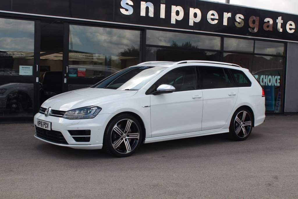 USED 2016 16 VOLKSWAGEN GOLF 2.0 R TSI DSG 5d 296 BHP White VW Golf R, 1 Previous Owner, Heated Seats, Cruise Control, Bluetooth Phone, Bi-Xenon Headlights, Electric Windows x4, Front and Rear Parking Sensors, DAB Digital Radio, Tyre Pressure Monitor, Dual Zone Climate Control, Remote Central Locking, Privacy Glass, Roof Rails, Electric Folding Mirrors, Gearshift Paddles,  2 Keys and Book Pack, Full Service History - 4 Services.