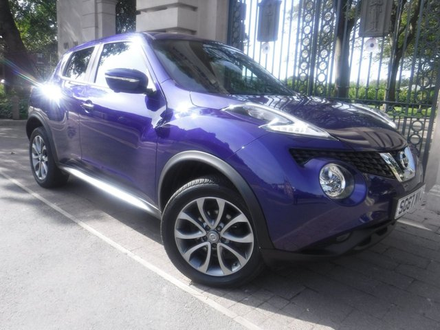 USED 2017 67 NISSAN JUKE 1.6 TEKNA XTRONIC 5d 117 BHP *** FINANCE & PART EXCHANGE WELCOME *** 1 OWNER SAT/NAV BLUETOOTH PHONE 360 VIEW CAMERAS FULL BLACK LEATHER HEATED SEATS
