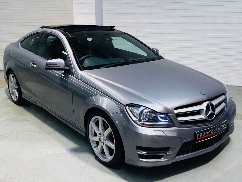 USED 2014 64 MERCEDES-BENZ C-CLASS 2.1 C250 CDI AMG SPORT EDITION PREMIUM PLUS 2d 202 BHP Glass Panoramic Roof, Heated Leather, COMAND Online Media, Reverse Camera, Xenon Headlights