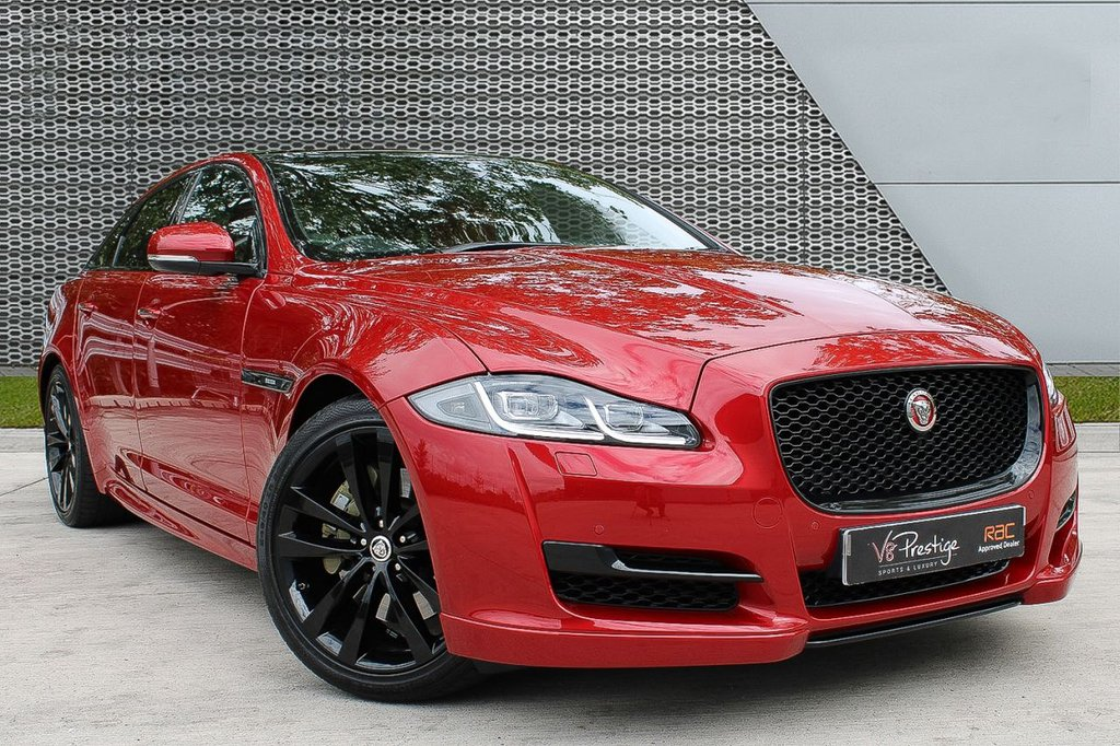 USED 2018 18 JAGUAR XJ 3.0 D V6 R-SPORT 4d 296 BHP **R-SPORT 300/BLACK PACK/TV**