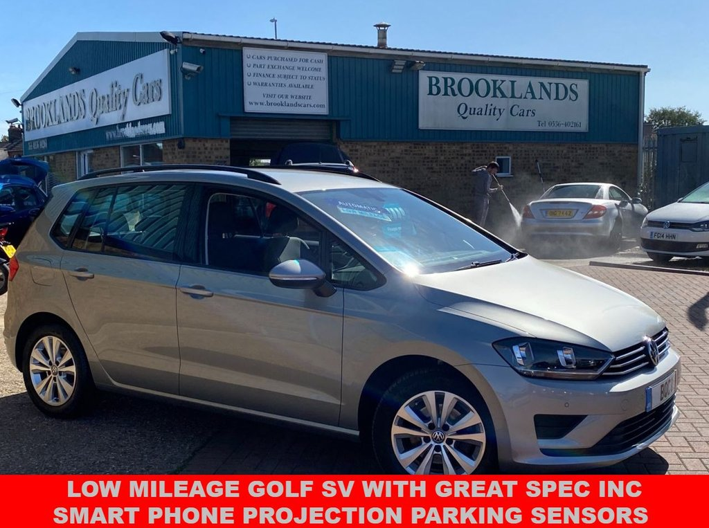 USED 2017 17 VOLKSWAGEN GOLF SV 1.4 SE TSI DSG 5 DOOR TUNGSTEN SILVER MET. ONLY 12979 MILES FSH 123 BHP LOW MILEAGE GOLF SV WITH GREAT SPEC INC SMART PHONE PROJECTION PARKING SENSORS