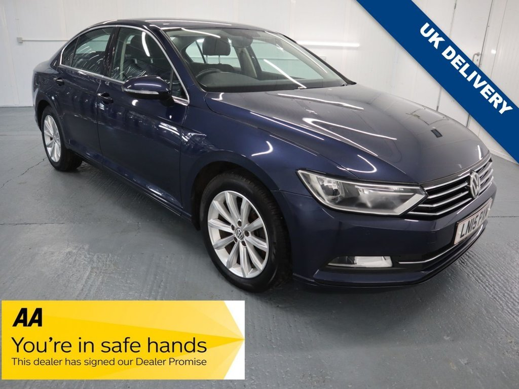 USED 2015 15 VOLKSWAGEN PASSAT 1.6 SE TDI BLUEMOTION TECHNOLOGY 4d 119 BHP GREAT VALUE FOR MONEY WITH RECENT SERVICE AND WITH 12 MONTHS MOT.