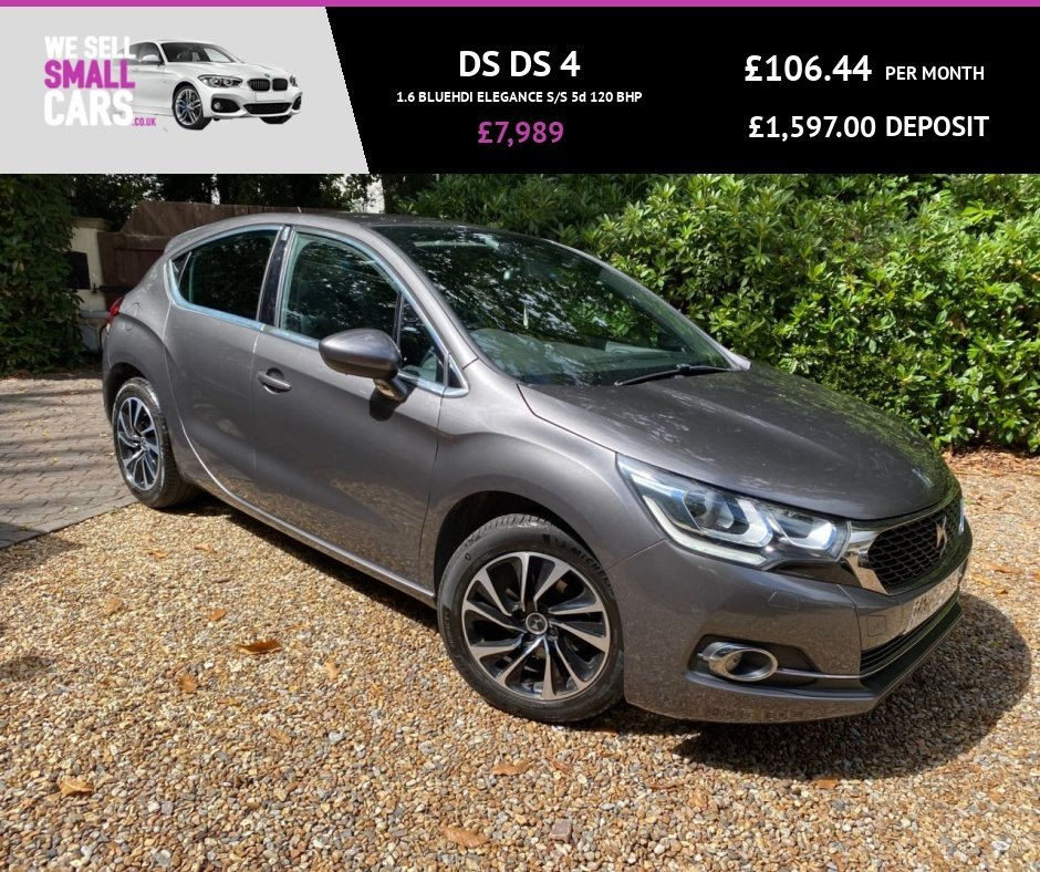 USED 2016 65 DS DS 4 1.6 BLUEHDI ELEGANCE S/S 5d 120 BHP 2 OWNERS FULL SERVICE HISTORY £20 TAX LOW MILES FACTORY BLUETOOTH