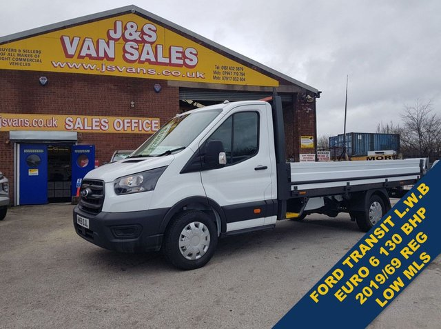 USED 2019 69 FORD TRANSIT  PICK UP EXTRA L.W.B DROP SIDE VAN  LOTS MORE EURO 6 VANS ON SITE OVER 100