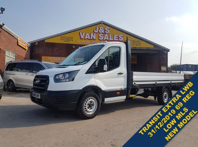 USED 2019 69 FORD TRANSIT T350 LEADER ECOBLUE DROPSIDER TRUCK 2019/69 REG  (((( LOTS MORE EURO 6 VANS ON SITE OVER 100 )))