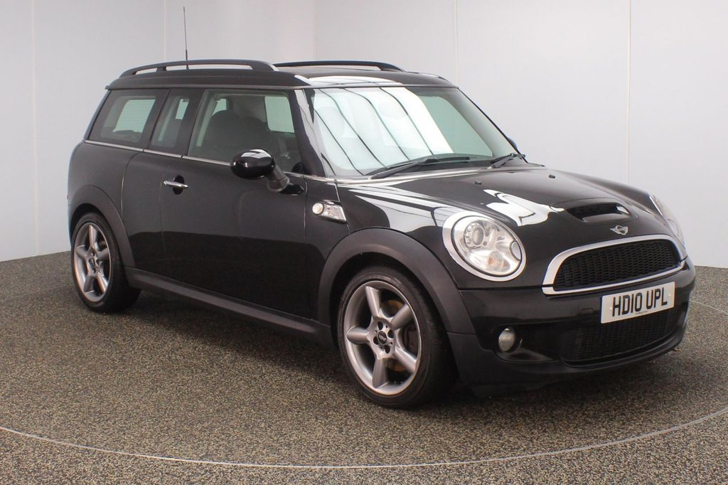 USED 2010 10 MINI CLUBMAN 1.6 COOPER S 5DR 184 BHP FULL SERVICE HISTORY + HALF LEATHER SEATS + PANORAMIC ROOF + BLUETOOTH + CLIMATE CONTROL + RADIO/CD/AUX/USB + ELECTRIC WINDOWS + ELECTRIC MIRRORS + 17 INCH ALLOY WHEELS