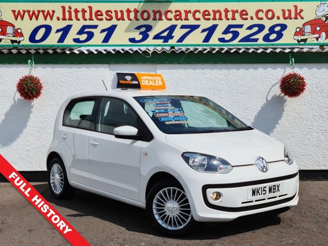 USED 2015 15 VOLKSWAGEN UP 1.0 HIGH UP 5d 74 BHP FULL MAIN DEALER HISTORY, 2 OWNERS, 20,000 MILES, FINANCE DEALS AVAILABLE