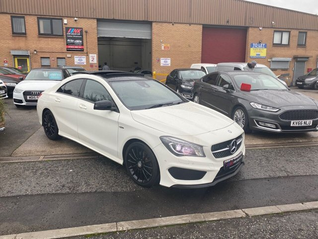 2014 64 MERCEDES-BENZ CLA 2.1 CLA220 CDI AMG SPORT 4d 170 BHP PAN ROOF SAT NAV SOLD TO SOPHIE FROM DOCASTER