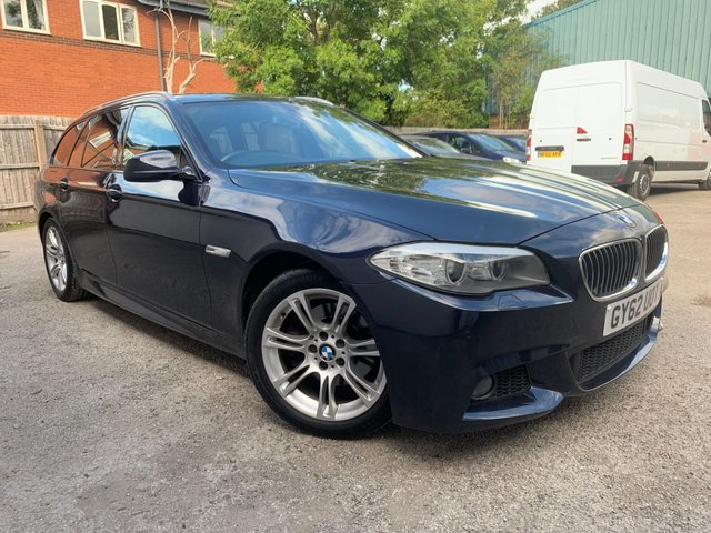 USED 2012 62 BMW 5 SERIES 2.0 520D M SPORT TOURING ESTATE 5d 181 BHP 2 OWNERS FROM NEW, CREAM LEATHER, SAT NAV, REVERSE CAMERA