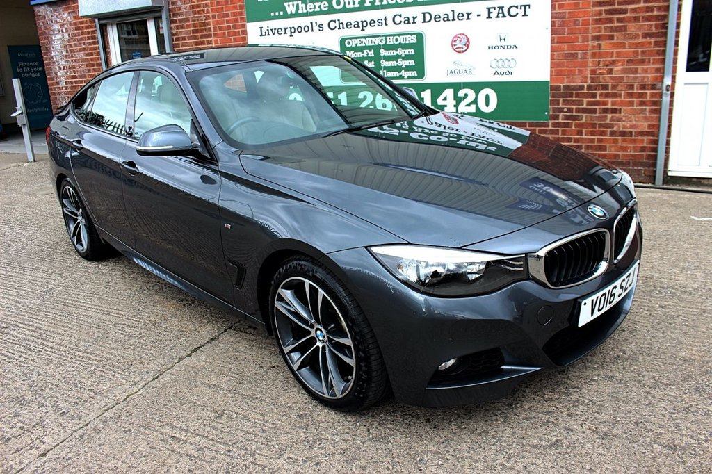 USED 2016 16 BMW 3 SERIES 3.0 330D M SPORT GRAN TURISMO 5d AUTO 255 BHP +ONE OWNER +LEATHER +SAT NAV.