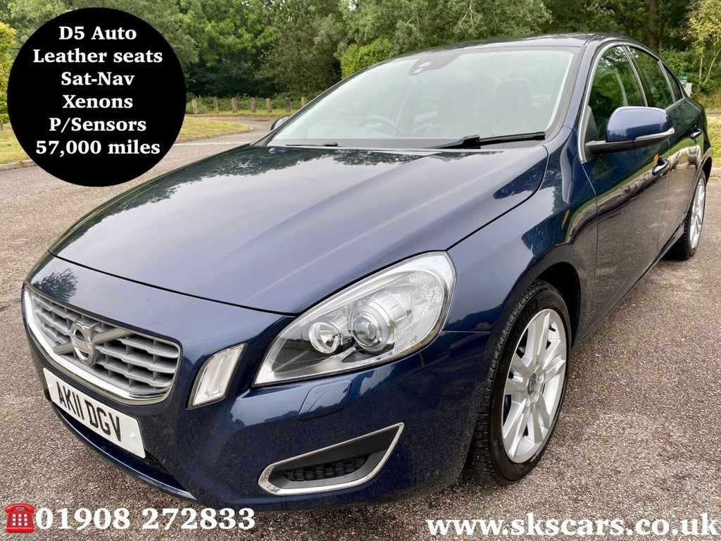 USED 2011 11 VOLVO S60 2.4 D5 SE LUX 4d 202 BHP **12 MONTHS NATIONAL WARRANTY**