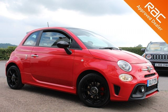 USED 2017 17 ABARTH 500 1.4 595 3d 144 BHP VIEW AND RESERVE ONLINE OR CALL 01527-853940 FOR MORE INFO.