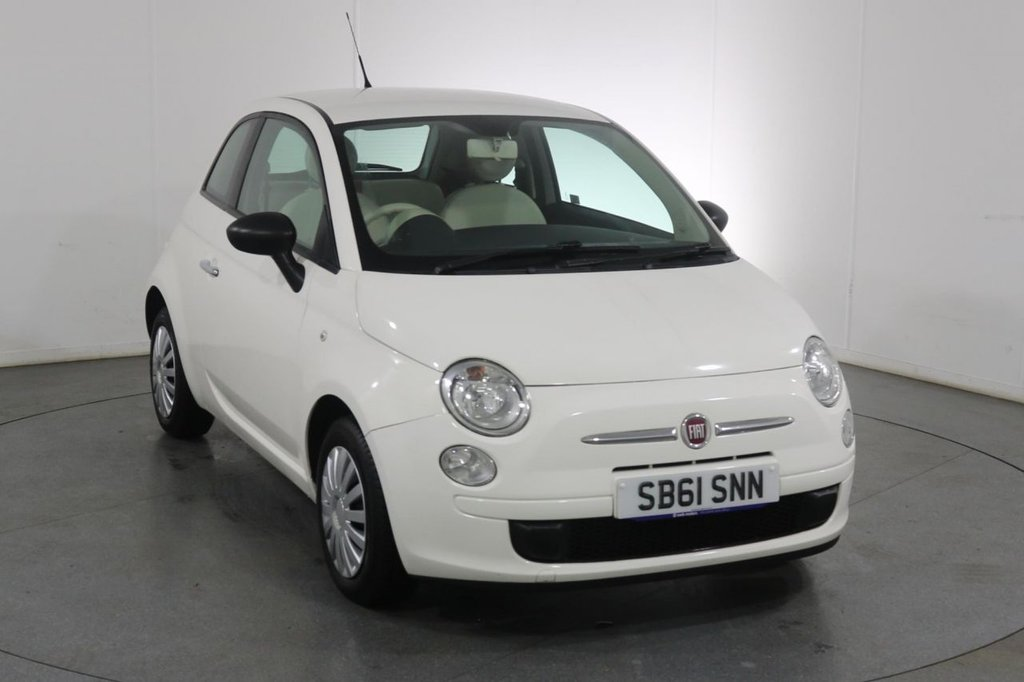 USED 2012 61 FIAT 500 1.2 POP 3d 69 BHP 4 Stamp SERVICE HISTORY