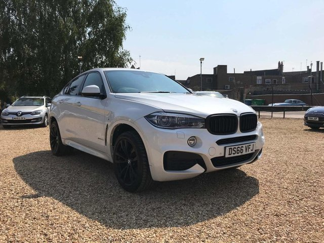 USED 2016 66 BMW X6 3.0 30d M Sport Auto xDrive (s/s) 5dr Pearl White, Head Up, HK Music