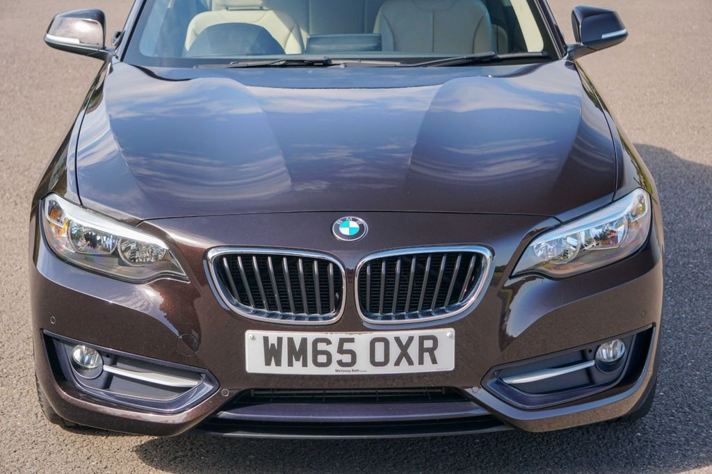 USED 2015 65 BMW 2 SERIES 2.0 218D SPORT [150] Auto Leather NAV Pro Media