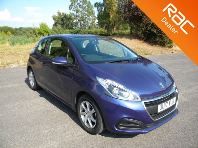 USED 2017 17 PEUGEOT 208 1.2 ACTIVE 3d 82 BHP BY APPOINTMENT ONLY -PX TO CLEAR DAB Radio, Alloy Wheels, Bluetooth, Air Con, Cruise Control