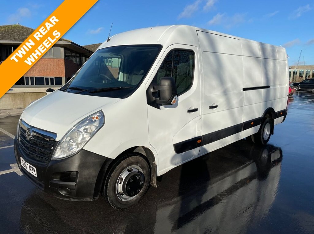 USED 2017 67 VAUXHALL MOVANO R3500 2.3CDTi EURO 6 145ps L4H2 XLWB RWD *TWIN REAR WHEEL*EXCELLENT SPEC* AIRCON-SATNAV-SENSPORS-XLWB