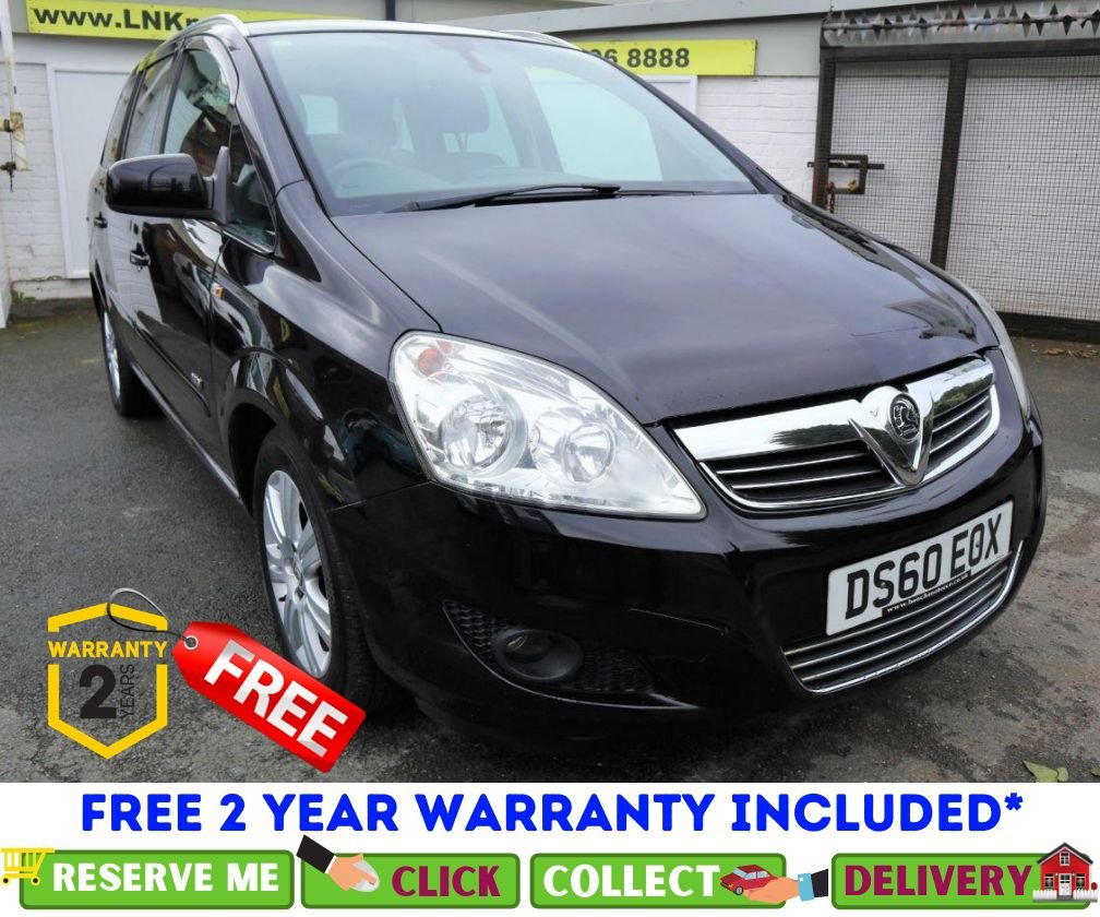 USED 2010 60 VAUXHALL ZAFIRA 1.8 DESIGN 5d 138 BHP *CLICK & COLLECT OR DELIVERY