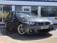 USED 2016 66 BMW 5 SERIES 2.0 520D M SPORT 4d 188 BHP AVAILABLE FOR ONLY £350 PER MONTH WITH £0 DEPOSIT
