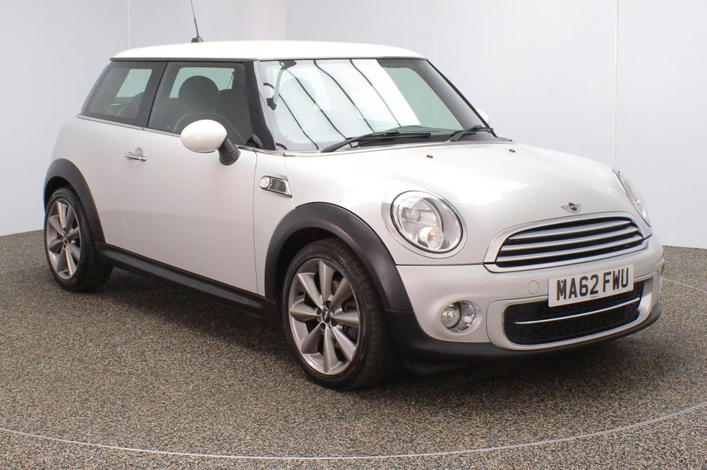 USED 2012 62 MINI HATCH COOPER 1.6 COOPER D LONDON 2012 EDITION 3DR 110 BHP Finished in a stunning white metallic silver styled with alloys. Upon opening the drivers door you are presented with full leather interior, bluetooth, heated sport seats, cruise control, dab radio, multi functional steering wheel, Automatic air conditioning, Light package, Auto start/stop function