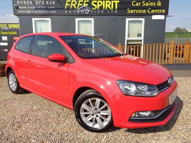 USED 2014 14 VOLKSWAGEN POLO 1.0 BlueMotion Tech SE (s/s) 3dr Sat Nav, Cruise, D.A.B.