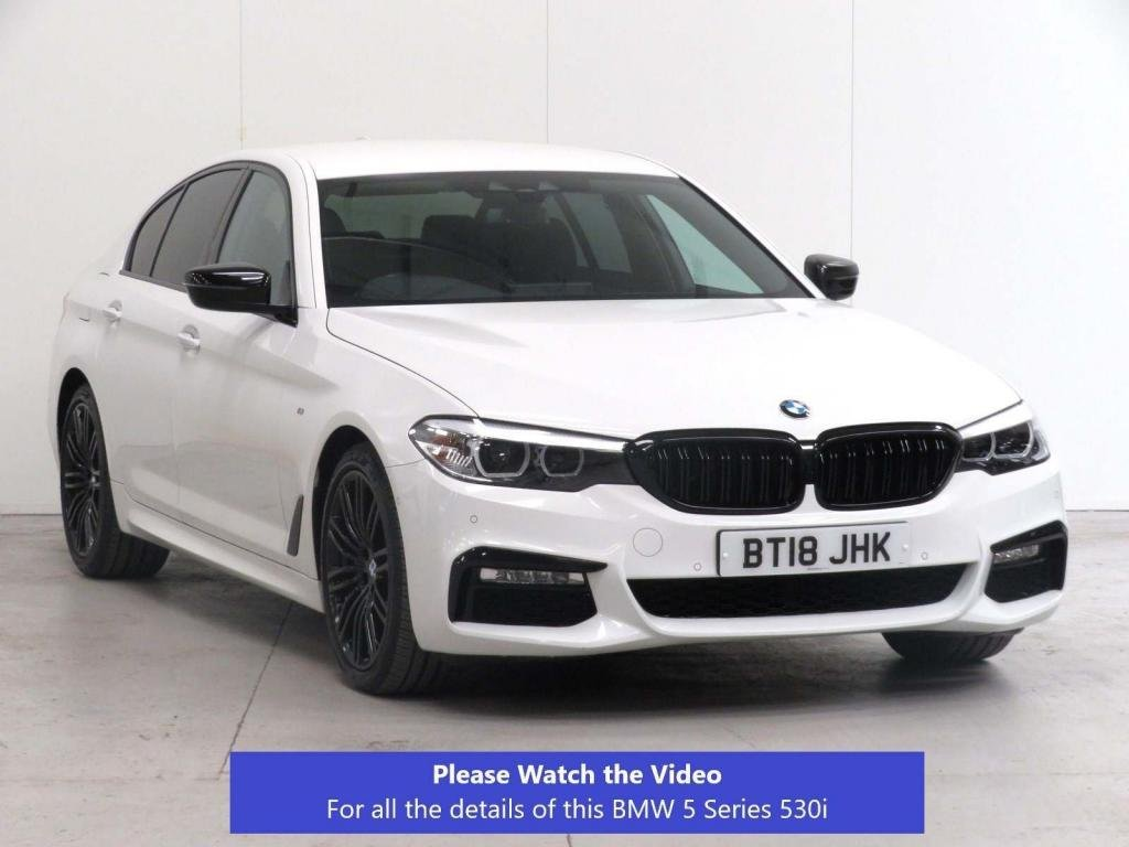 USED 2018 18 BMW 5 SERIES 2.0 530i GPF M Sport Auto (s/s) 4dr SUN-PROTECTION**F.BMW.SH*VAT-Q