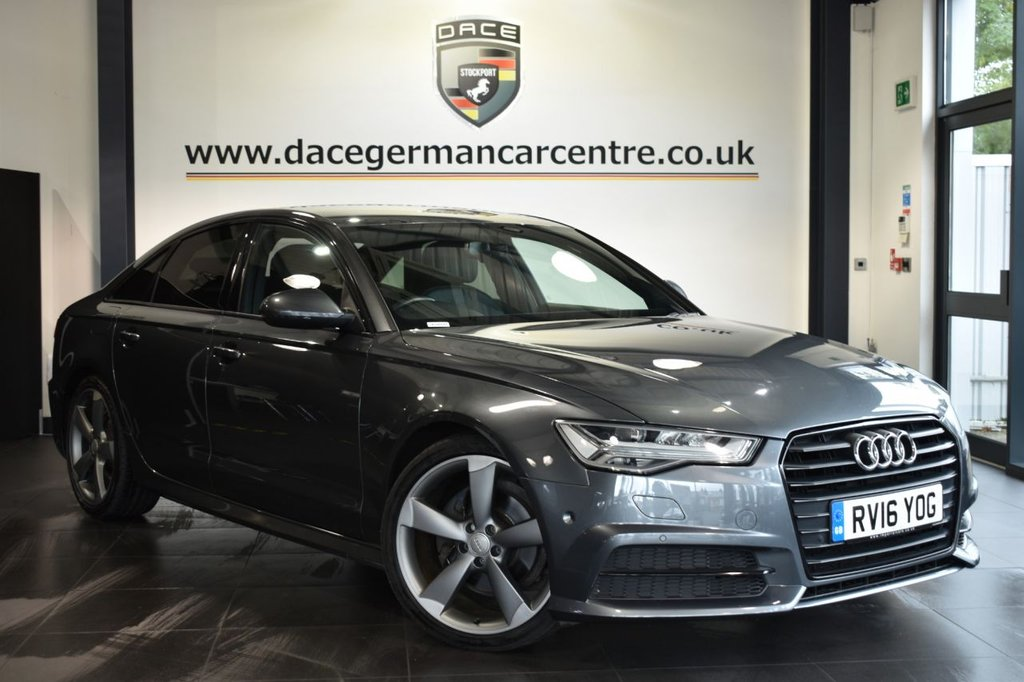 "USED 2016 16 AUDI A6 2.0 TDI ULTRA BLACK EDITION 4d AUTO 188 BHP Finished in a stunning metallic grey  styled with 20"" alloys. Upon opening the drivers door you are presented with half leather interior, full service history, satellite navigation, bluetooth, bose speakers, cruise control, dab radio, multi functional steering wheel, climate control, heated mirrors, parking sensors"