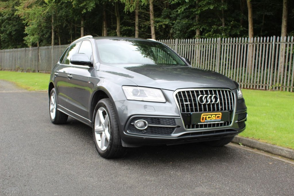 USED 2016 66 AUDI Q5 2.0 TDI QUATTRO S LINE 5d 187 BHP A STUNNING Q5 QUATTRO WITH AUDI DEALER HISTORY, BLACK LEATHER, SAT NAV AND MORE!!!