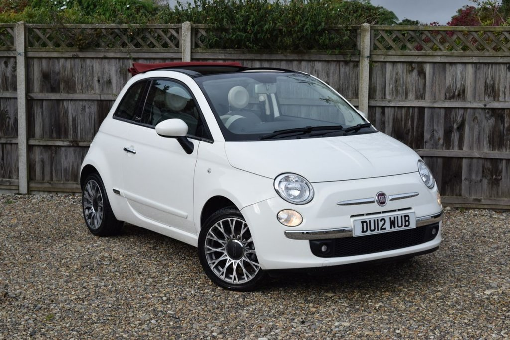 USED 2012 12 FIAT 500 1.2 C LOUNGE 3d 69 BHP Free 12  month warranty