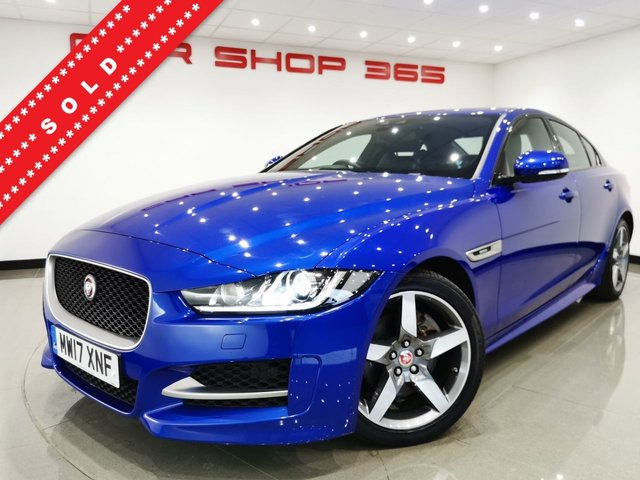 USED 2017 17 JAGUAR XE 2.0 D (180 BHP) R-SPORT AUTO 4DR..EYE CATCHING COLOUR..XENONS..LEDS..PARK AID..CRUISE..HIGH SPEC !! 18 S+PRIVACY+XENON+PARK+H-LEATHERS+NAV+CRUISE+MEDIA
