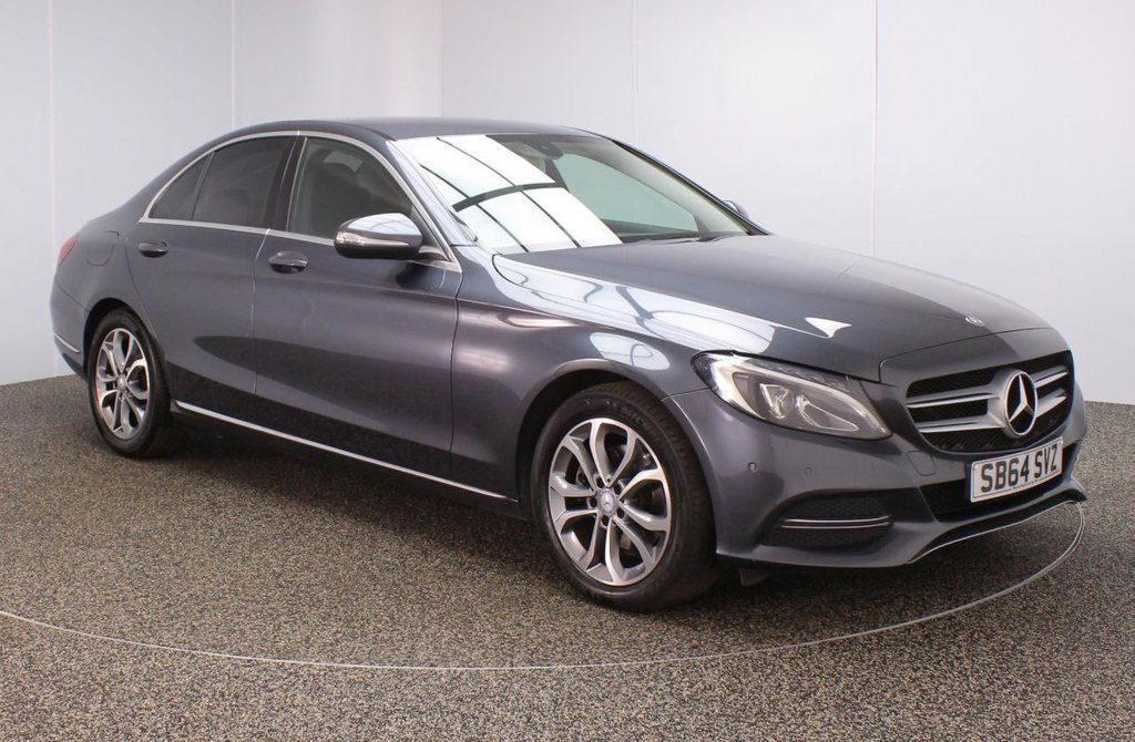 USED 2014 64 MERCEDES-BENZ C-CLASS 2.1 C220 BLUETEC SPORT 4DR AUTO 170 BHP SERVICE HISTORY + £20 12 MONTHS ROAD TAX + HEATED LEATHER SEATS + SATELLITE NAVIGATION + REVERSE CAMERA + PARKING SENSOR + BLUETOOTH + CRUISE CONTROL + CLIMATE CONTROL + MULTI FUNCTION WHEEL + PRIVACY GLASS + DAB RADIO + ELECTRIC WINDOWS + ELECTRIC MIRRORS + 17 INCH ALLOY WHEELS