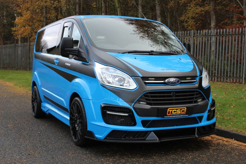 USED 2015 15 FORD TRANSIT CUSTOM 2.2 290 SPORT LR P/V 153 BHP A STUNNING M SPORT RECREATION BASED ON A GENUINE SPORT CUSTOM WITH NO VAT TO BE ADDED!!!